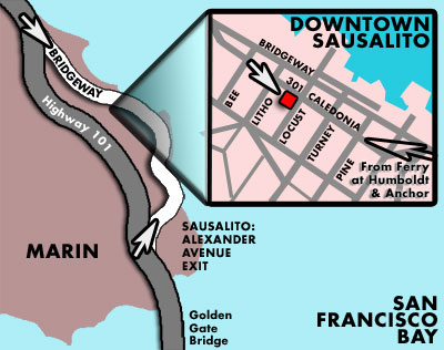 Map of New Location: Sausalito